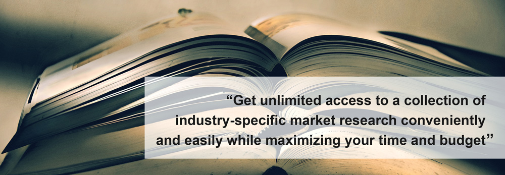 MarketResearch.com's Knowledge Center Solutions, offering unlimited access to an entire collection of research based on industry or publisher.