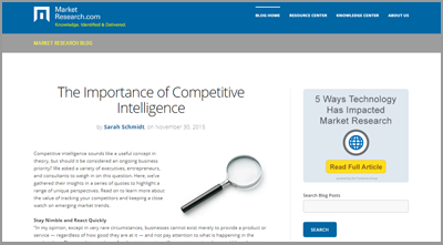 Subscribe to the MarketResearch.com Blog