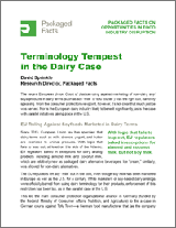 Terminology Tempest in the Dairy Case